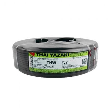 สายไฟเดี่ยว (IEC 01 THW) 1*4 YAZAKI สีดำ