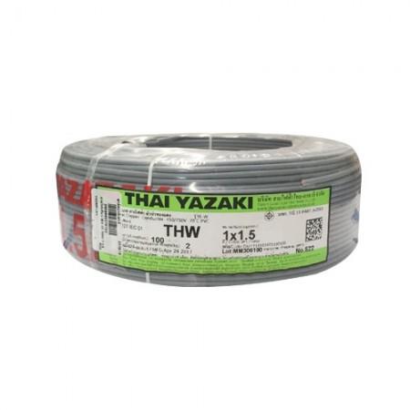 สายไฟเดี่ยว IEC 01 THW 1*1.5 YAZAKI เทา