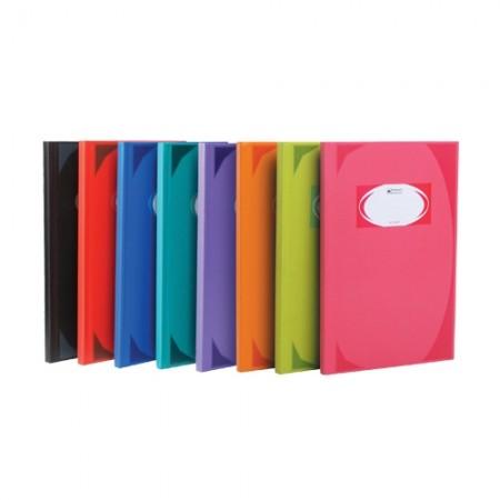 สมุดบัญชี มุมมัน 70g 5/200 ช้าง คละสี