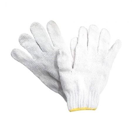 ถุงมือผ้า ไม่ฟอก 6ขีด ขอบเหลือง