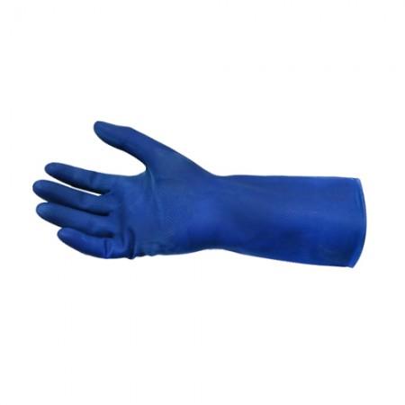 ถุงมือยาง สีน้ำเงิน  L  EAGLE