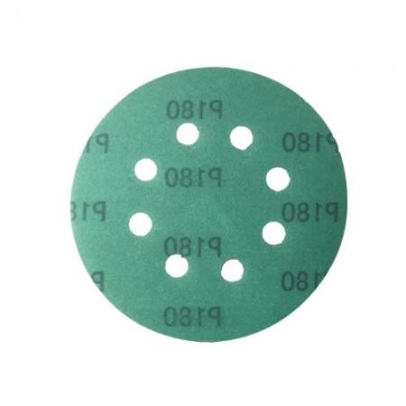 กระดาษทรายกลม 5 8รู เบอร์180แบบมีกาวHYD