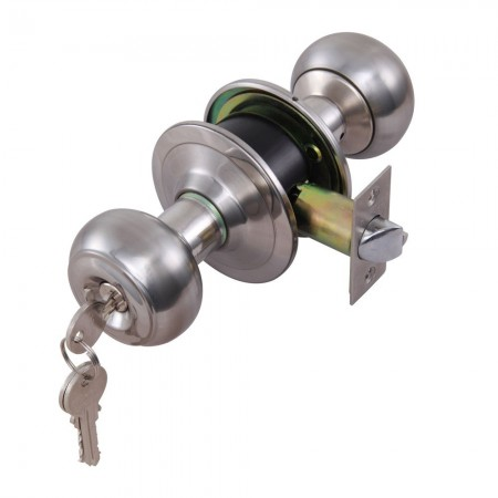ลูกบิดประตูทางเข้า สีเงิน 489.93.003 HAFELE