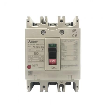 เบรคเกอร์ไฟฟ้า 3P100A  NF125SV MITSUBISHI