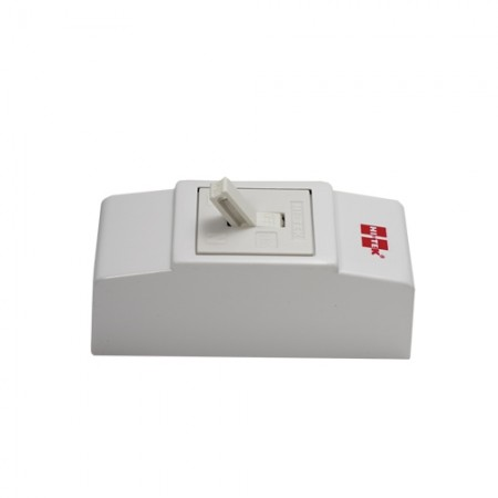 เบรคเกอร์ไฟฟ้า+กล่อง 2P10A HI-TEKขาว