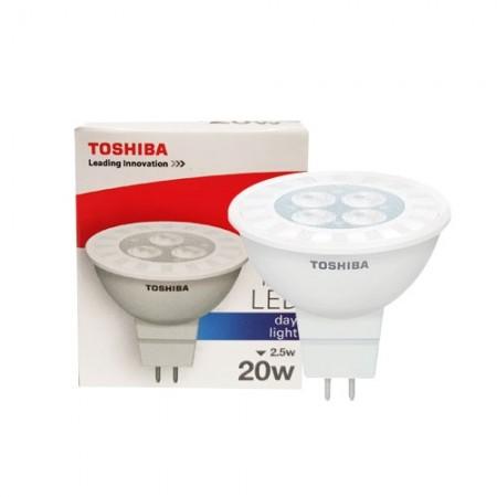 หลอดฮาโลเจน LED MR16 2.5W DL TOSHIBA