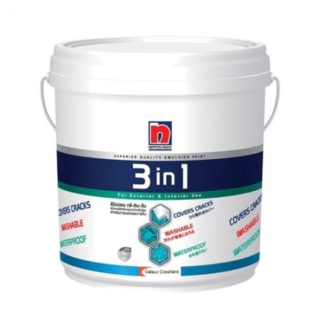 สีน้ำภายนอก B 3IN1 NIPPON 1GL