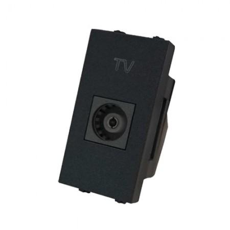 เต้ารับโทรทัศน์ T-150C CHANG สีเทาดำ