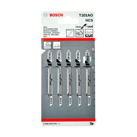 ใบเลื่อยจิ๊กซอ T101A0 BOSCH (5ใบ)