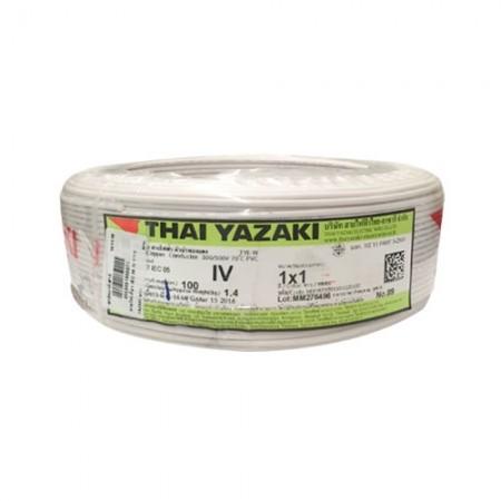 สายไฟเดี่ยว IEC 05 IV 1*1.0 YAZAKI ขาว