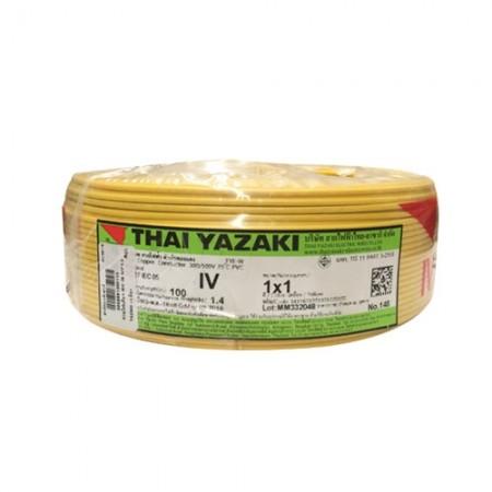 สายไฟเดี่ยว IEC 05 IV1*1.0 YAZAKI เหลือง