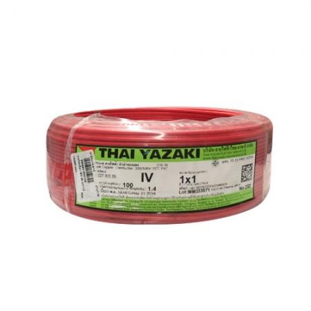 สายไฟเดี่ยว IEC 05 IV1*1.0 YAZAKI แดง