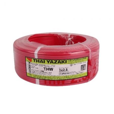 สายไฟเดี่ยว (IEC 01THW) 1*2.5 YAZAKI แดง