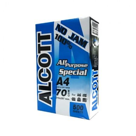 กระดาษถ่ายเอกสารA4 70แกรม ALCOTTน้ำเงิน