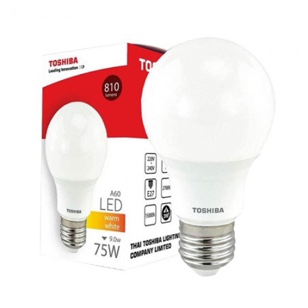 หลอด LED A60 9W WW TOSHIBA