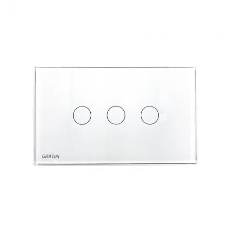 สวิทซ์ไฟ GTS03 W 2x4 GRATIA