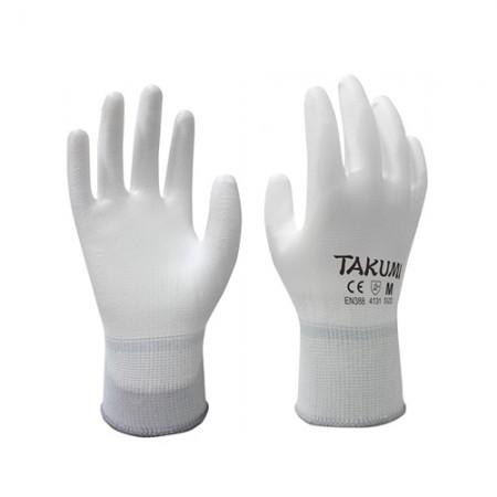 ถุงมือผ้าเคลือบ PU P-1300 TAKUMI, L