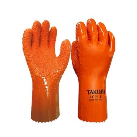 ถุงมือ PVC-500 กันสารเคมี TAKUMI, LL