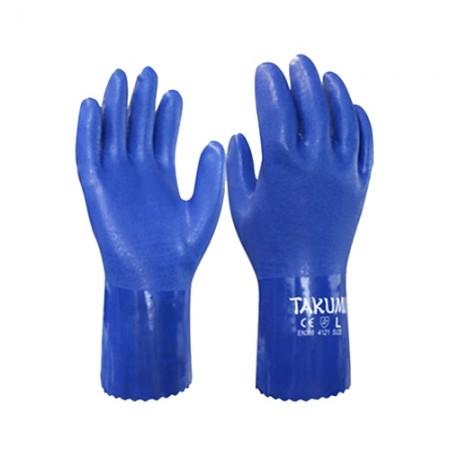 ถุงมือ PVC-600 กันน้ำมัน TAKUMI, LL
