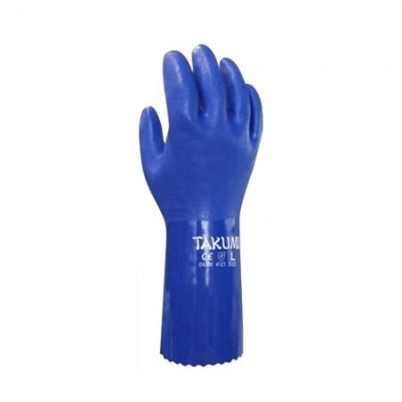 ถุงมือ PVC-600L กันน้ำมัน TAKUMI, LL