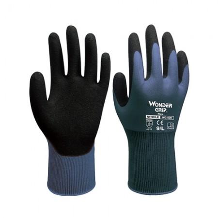 ถุงมือผ้าเคลือบยางไนไตร 500 WDG, L