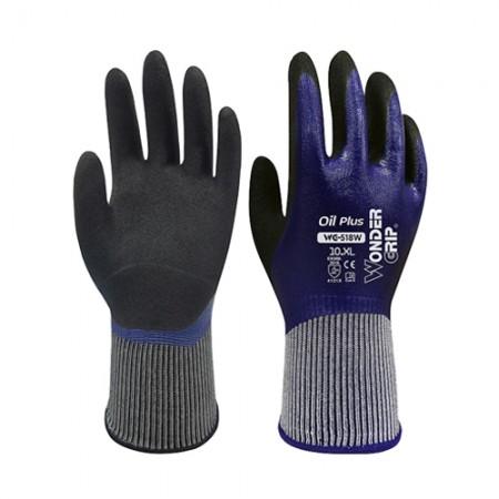 ถุงมือผ้าเคลือบไนไตร กันน้ำมัน518 WDG, M
