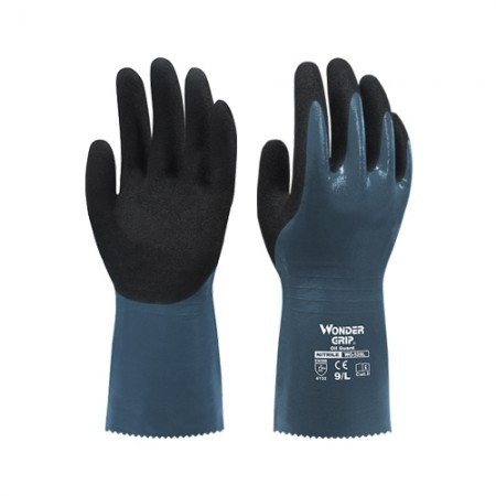 ถุงมือผ้าเคลือบไนไตรกันน้ำมัน528L WDG, L