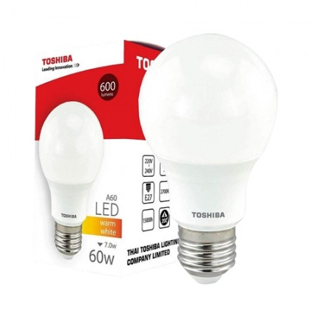 หลอดไฟ LED A60 7W WW E27(G4) LT1113906 TOSHIBA