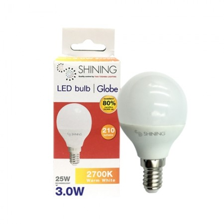 หลอด LED Globe 3W E14 WW TOSHIBA