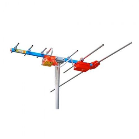 แผงเสาอากาศ UV-7E+RG6/U 15M. BETA สีฟ้า
