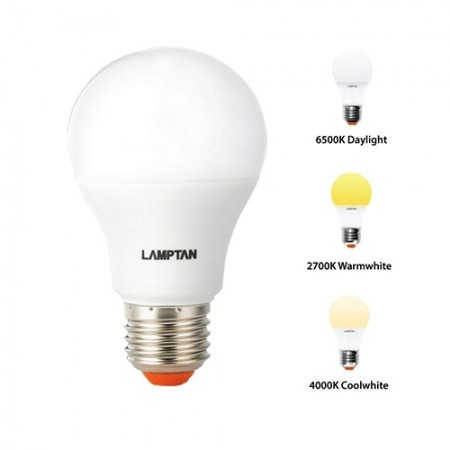 หลอดไฟ LED BULB Color/Switch 9W DayLight LAMPTAN