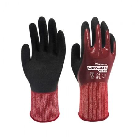 ถุงมือผ้าเคลือบยางไนไตร กันบาด718 WDG, L