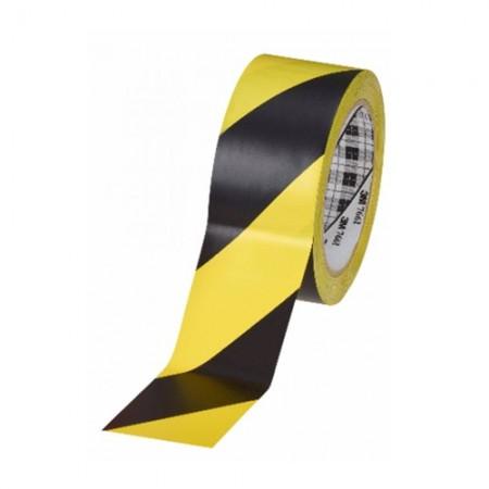 """เทปกั้นเขตแบบมีกาว 2""""x36Y T76 3Mเหลืองดำ"""
