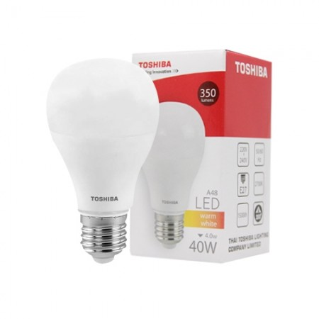หลอดไฟ LED GEN5 A48 4W WARM WHITE E27 TOSHIBA LT