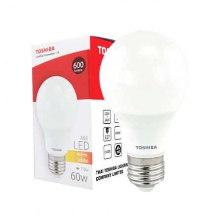 หลอดไฟ LED GEN5 A60 7W WARM WHITE E27 TOSHIBA LT
