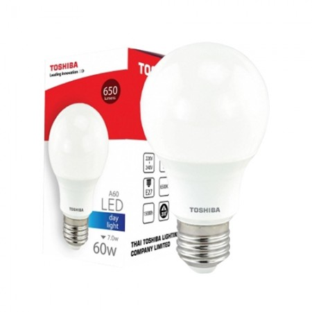 หลอดไฟ LED GEN5 A60 7W DAY LIGHT E27 TOSHIBA LT