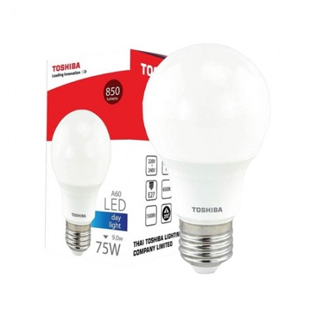 หลอดไฟ LED GEN5 A60 9W DAY LIGHT E27 TOSHIBA LT