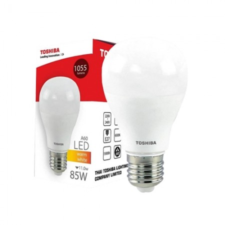 หลอดไฟ LED GEN5 A60 11W WARM WHITE E27 TOSHIBA LT