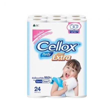 กระดาษชำระ CELLOX บิ๊กโรลฟิวริฟาย24ม้วน