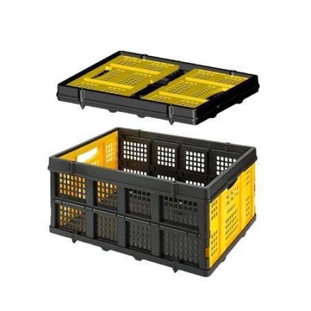 ตะกร้าพลาสติกพับได้ FT505 STANLEY(Folding Basket 25Kg.)