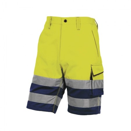 กางเกงทำงานสั้น PHBE2 DELTA เหลืองนีออนM DELTAPLUS