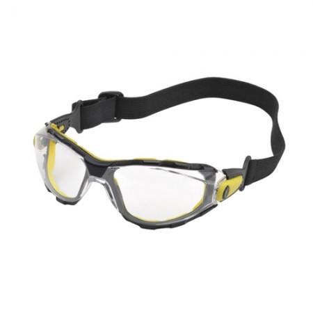 แว่นตานิรภัย มีสายรัด PACAYA DELTA สีใส DELTAPLUS