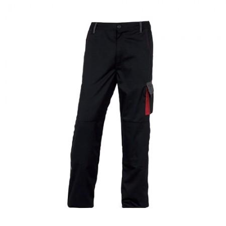 กางเกงทำงาน DMACHPAN DELTA สีดำ-แดง XL DELTAPLUS