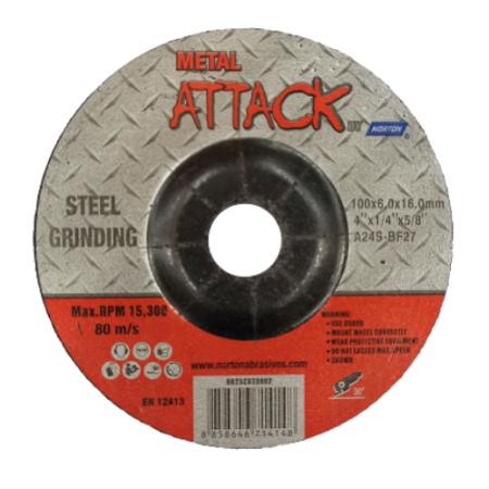 ใบเจียรเหล็ก ขนาด 4 นิ้ว Metal Attack by Norton