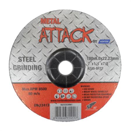 ใบเจียรเหล็ก ขนาด 7 นิ้ว Metal Attack by Norton