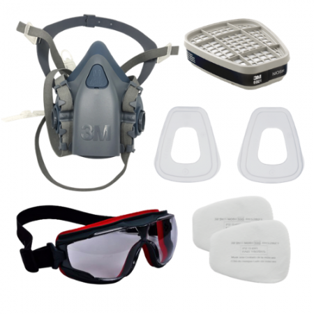 Set B : 3M อุปกรณ์ป้องกันระบบหายใจจากสารเคมีและแก๊ส
