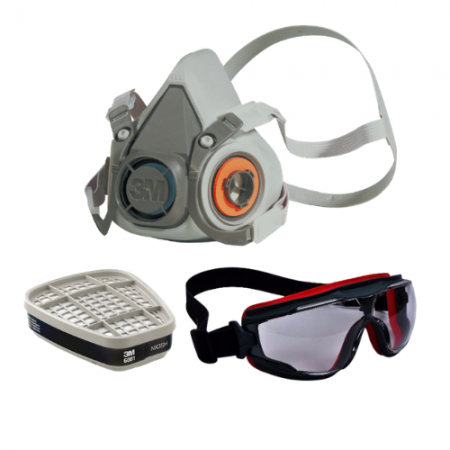 Set C : 3M อุปกรณ์ป้องกันระบบหายใจจากสารเคมีและแก๊ส