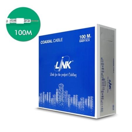 สาย CCTV RG6 CB-0106A-1WH LINK สีขาว (100ม.)