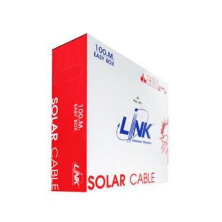 สายไฟโซล่าเซลล์ PV 4.0mm LINK CB-1040B-1 สีดำ (100 M./Bx.)