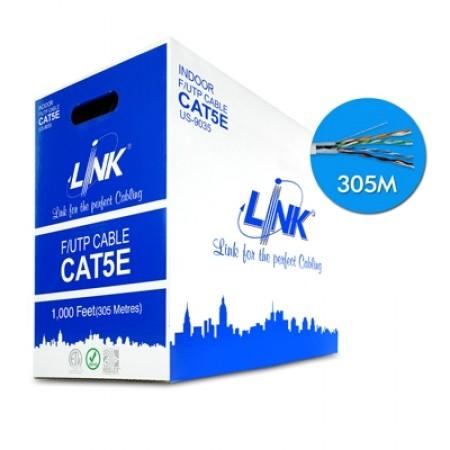 สายแลน CAT5E F/UTP ชิลด์ US-9035 LINK (305ม.)